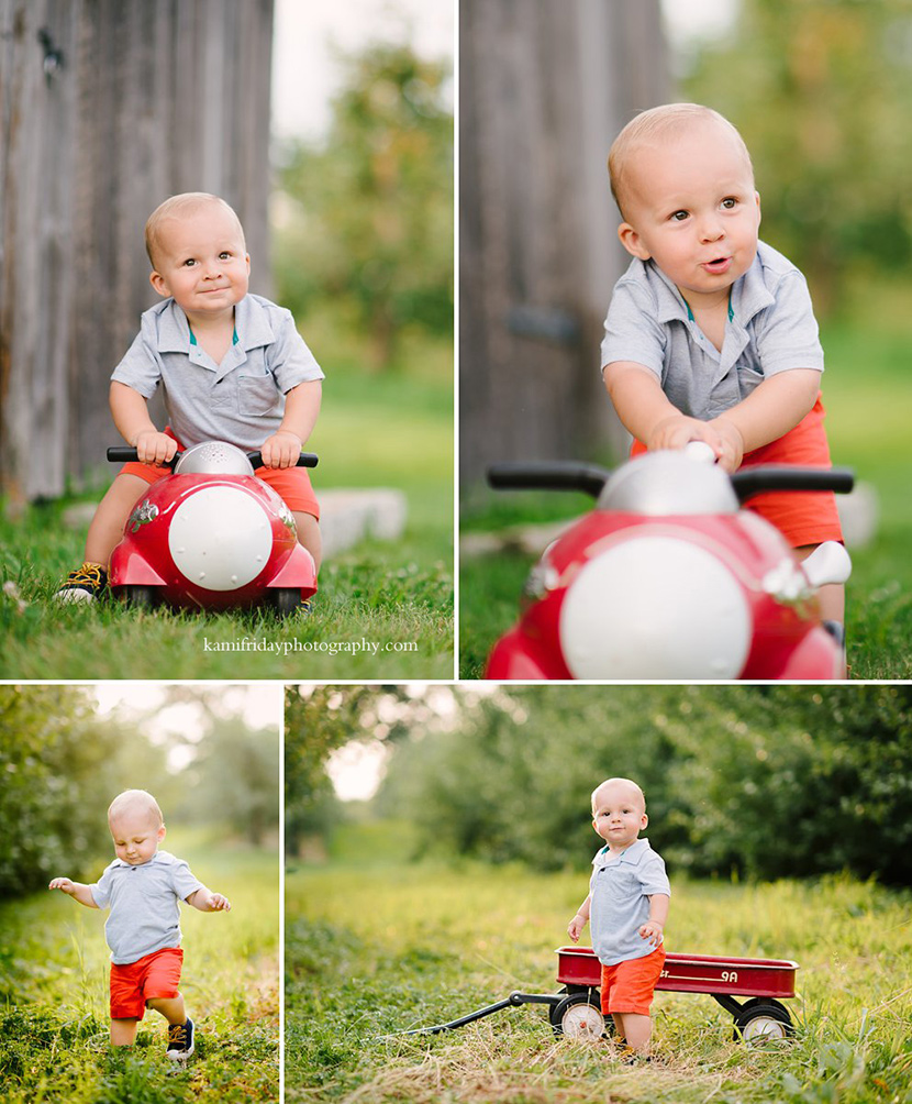 1 year old boy poses for portrait in londonderry nh