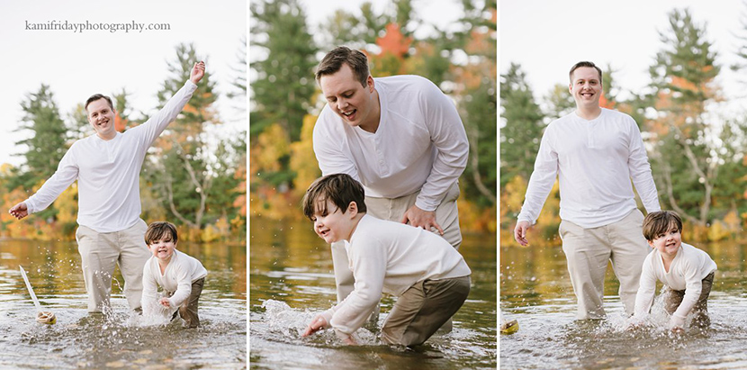 Brookline NH Lake Potanipo Family Portraits